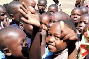 Photos of the kids enjoying having their picture taken.