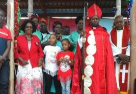 Bishop Abed Musyoka and his family